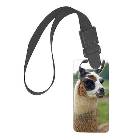 llama2_journal Small Luggage Tag