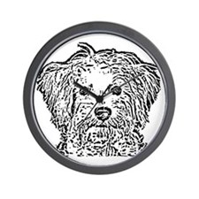 Schnoodle_bw Wall Clock