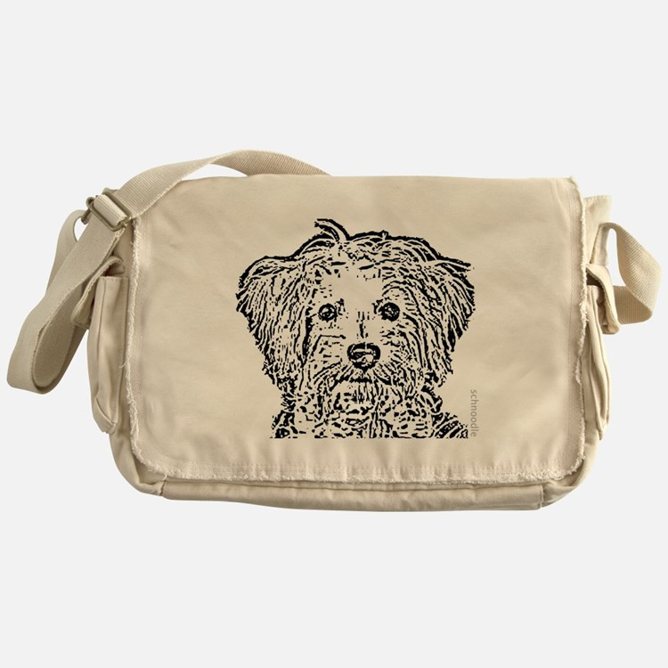 Schnoodle_bw Messenger Bag
