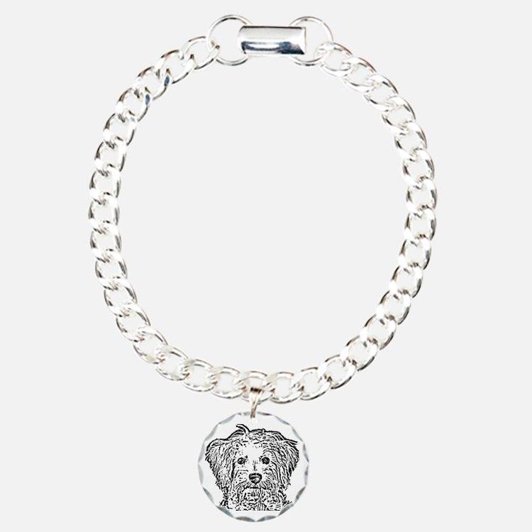 Schnoodle_bw Charm Bracelet, One Charm