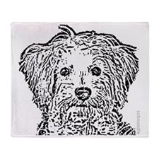 Schnoodle_bw Throw Blanket