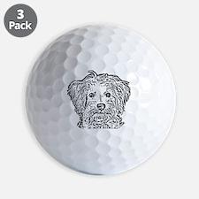 Schnoodle_bw Golf Ball