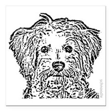 """Schnoodle_bw Square Car Magnet 3"""" x 3"""""""