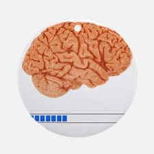 Brain Loading b Round Ornament