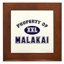 Property of malakai Framed Tile