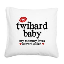 Twihard Baby Square Canvas Pillow