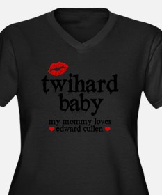 Twihard Baby Women's Plus Size Dark V-Neck T-Shirt
