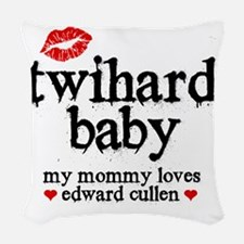 Twihard Baby Woven Throw Pillow