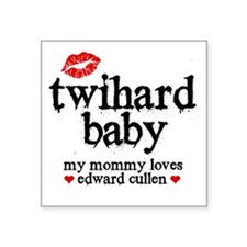 "Twihard Baby Square Sticker 3"" x 3"""
