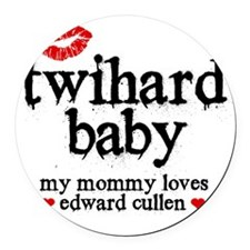 Twihard Baby Round Car Magnet