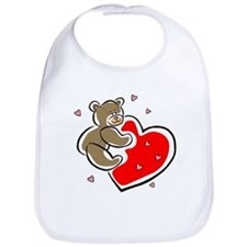 Teddy Bear with Heart Bib