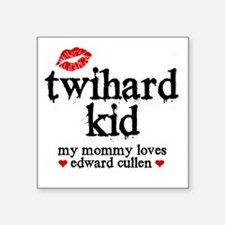 "Twihard Kid Square Sticker 3"" x 3"""
