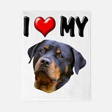 I Love My Rottweiler 3 Twin Duvet