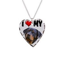 I Love My Rottweiler 3 Necklace