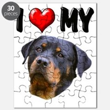 I Love My Rottweiler 3 Puzzle