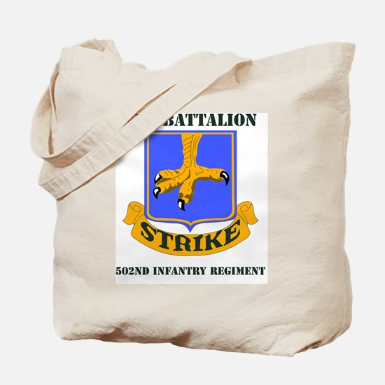 2-502ND IN RGT WITH TEXT Tote Bag