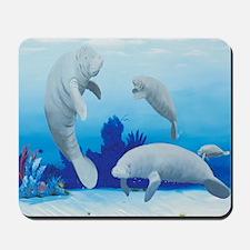 manatees-3-square Mousepad