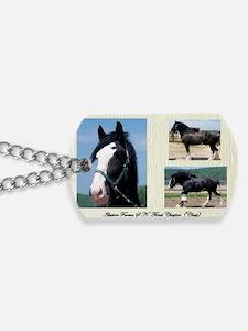 Beautiful Shire Draft horse Dog Tags