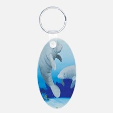 manatees-3-tall Keychains