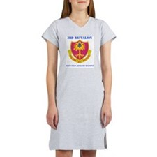 3-320 FA RGT WITH TEXT Women's Nightshirt