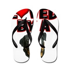 Loved by a Rottweiler 2 Flip Flops