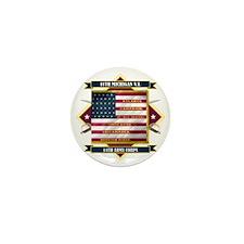 11th Michigan Infantry (Diamond) Mini Button
