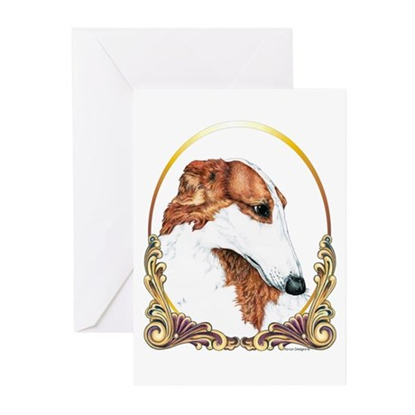 Borzoi Christmas/Holiday Greeting Cards (Package o