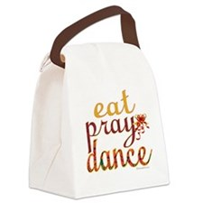 eat pray dance with ribbon copy Canvas Lunch Bag