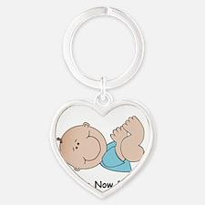 Baby Black Heart Keychain