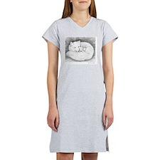 Arctic_fox_family_mini_poster Women's Nightshirt