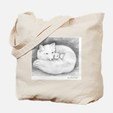 Arctic_fox_family_mini_poster Tote Bag