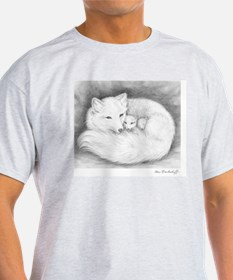 Arctic_fox_family_mini_poster T-Shirt