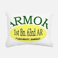 1st Bn 63rd AR cap3 Rectangular Canvas Pillow