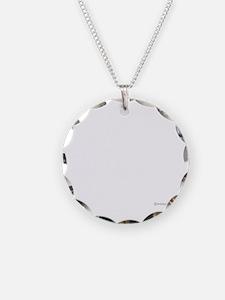 twilight sampler white text Necklace