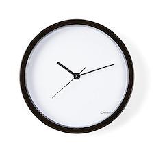 twilight sampler white text Wall Clock