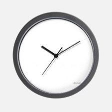 twilight sampler white text Wall Clock