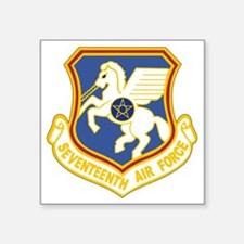 """17th Air Force Square Sticker 3"""" x 3"""""""