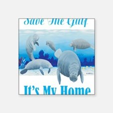 "save the gulf for dark Square Sticker 3"" x 3"""