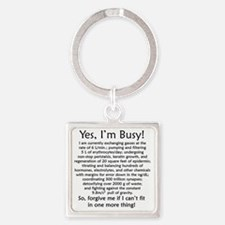 busy Square Keychain