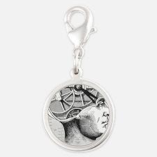 mastermind Silver Round Charm