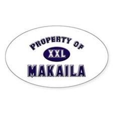 Property of makaila Oval Decal