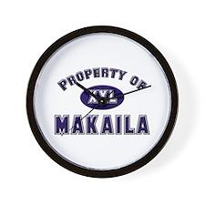 Property of makaila Wall Clock