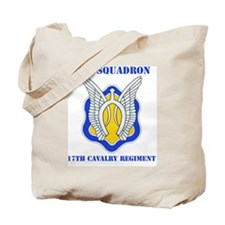 7-17TH CAV RGT WITH TEXT Tote Bag
