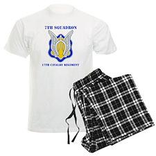 7-17TH CAV RGT WITH TEXT pajamas
