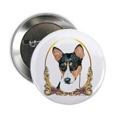 Basenji Christmas/Holiday Button