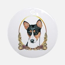 Basenji Christmas/Holiday Ornament (Round)
