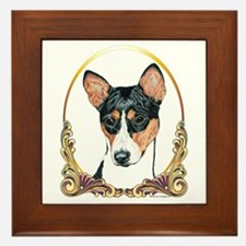 Basenji Christmas/Holiday Framed Tile