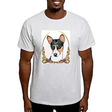 Basenji Christmas/Holiday Ash Grey T-Shirt