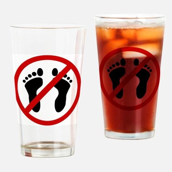 barefeet Drinking Glass