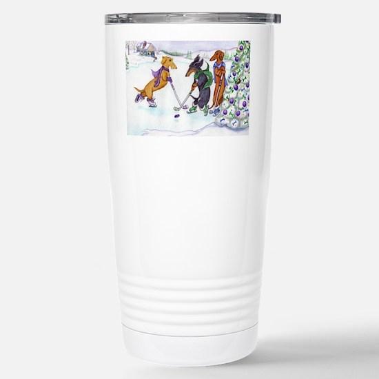 hockey5x7a Stainless Steel Travel Mug